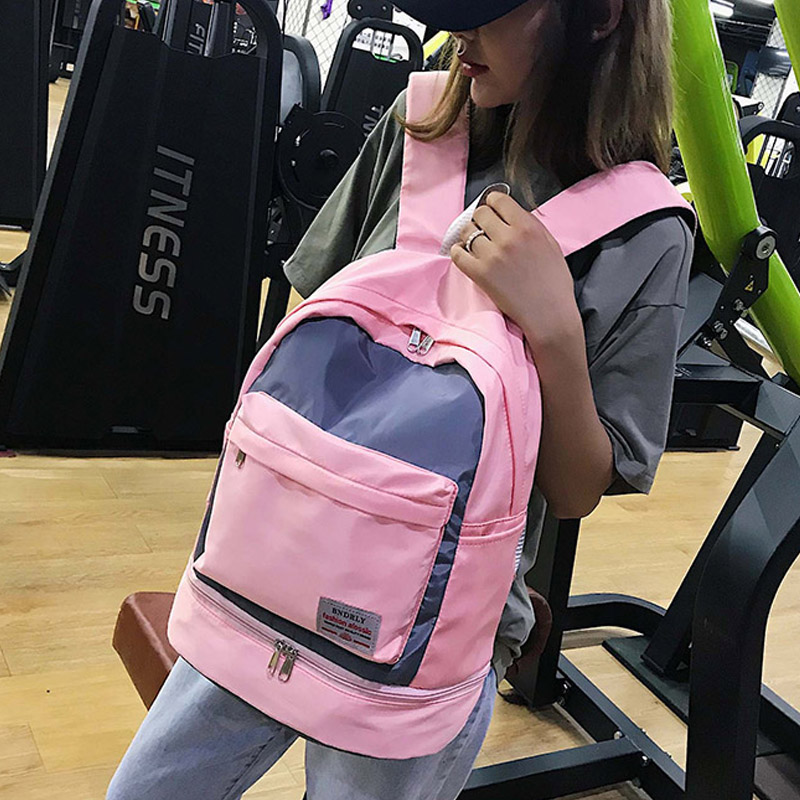 Image 5 - Fashion New Large Capacity Women Gym Backpack High Quality Waterproof Oxford Sprots Backpack Pretty Style Backpack Rucksack SACBackpacks   -
