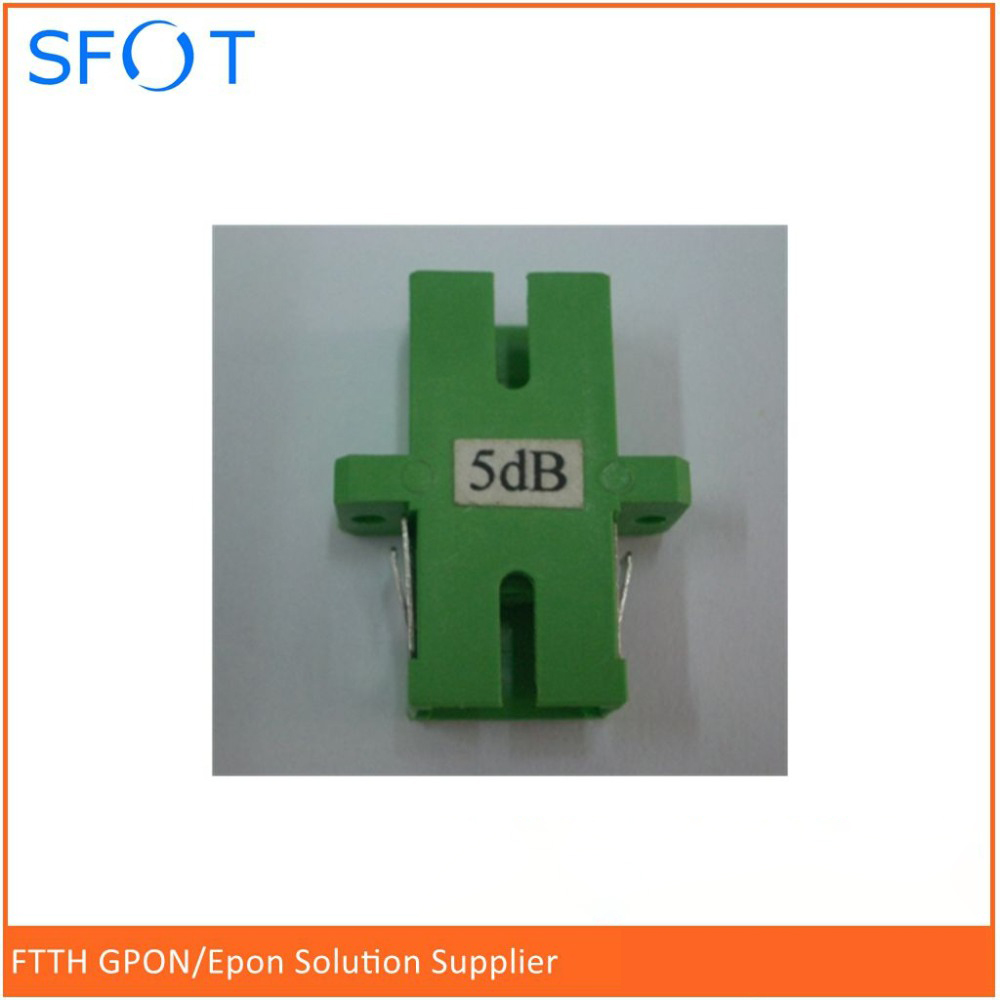 Free shipping 10pcs lot SC APC fixed flange fiber optic attenuator customized