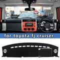 Carro-styling dashmats acessórios tampa do painel para Toyota FJ Cruiser 2006 2007 2008 2009 2010 2011 2013 2014 2015 2016 rhd
