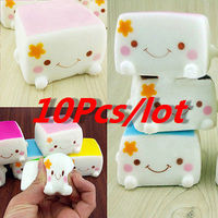 Tofu 7cm Soft Scented Cake Kawaii Small Cute Squishy Tofu Queeze Slow Rising Kid Toys Gift