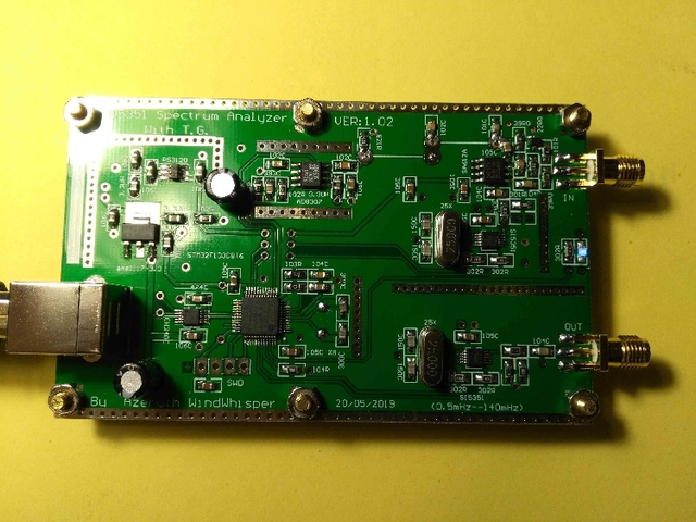 DYKB SI5351 süpürgesi V1.02 basit spektrum 0.5m 140mHz süpürme sinyal jeneratörü