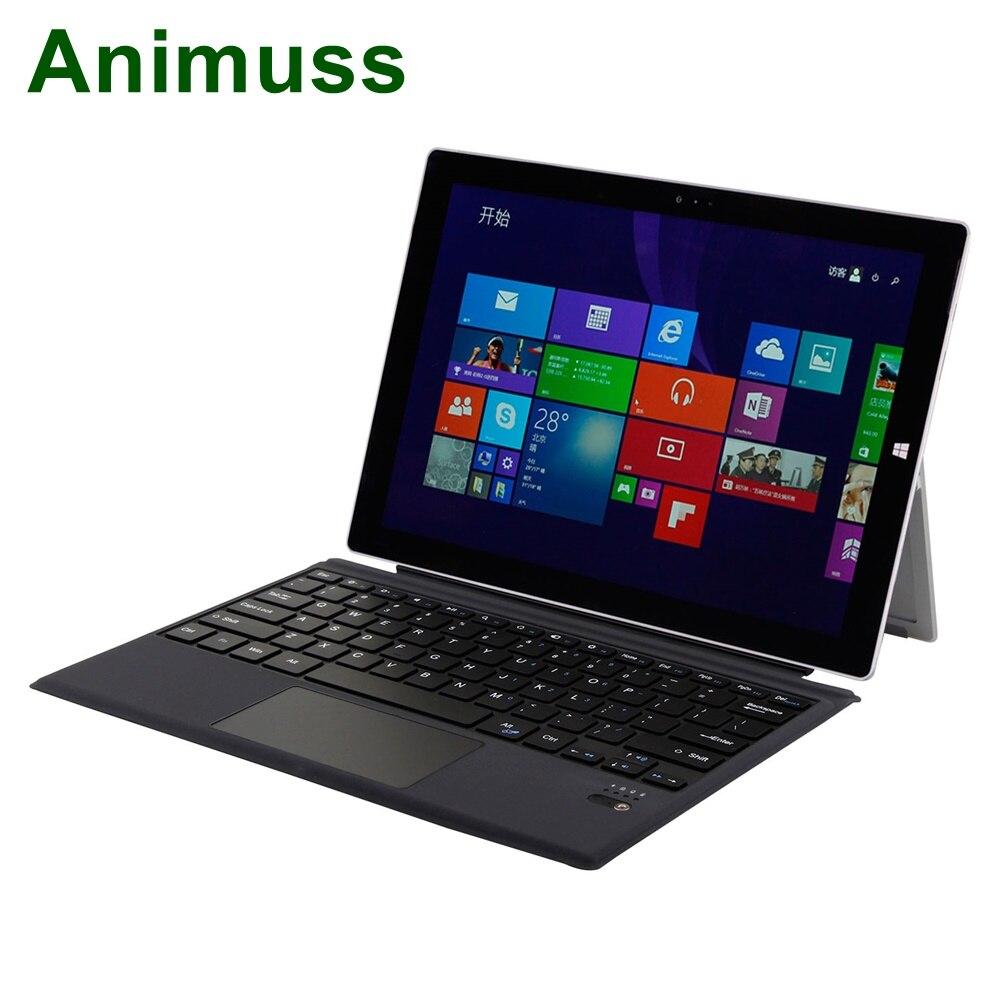 Clavier sans fil magnétique mince Animuss avec pavé tactile pour Microsoft Surface Pro 3/4/5