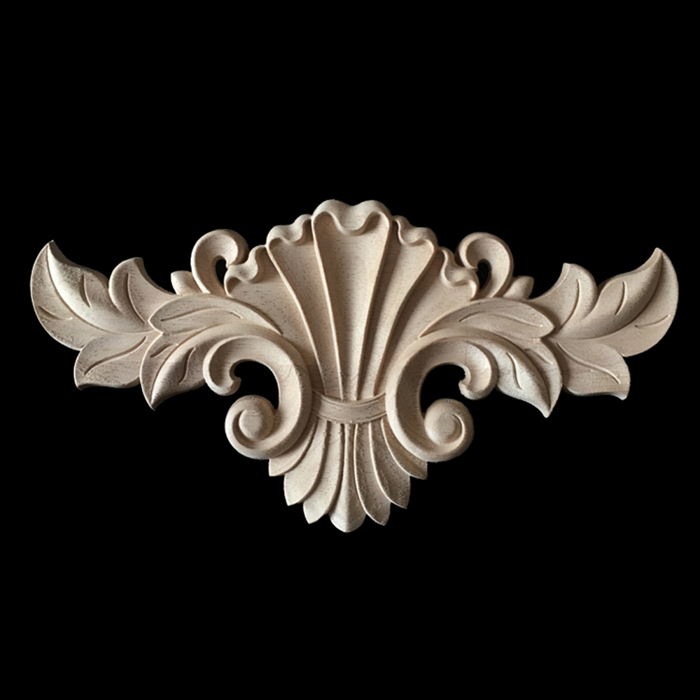 5/10PCS Wood Carved Decal Corner Onlay Applique Frame for Home Door Cabinet Wall Furniture Decorative Crafts 30X16CM