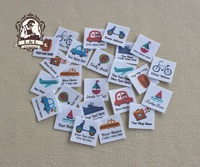 96 Custom Logo Labels Children S Clothing Tags Name Tags White Organic Cotton Labels Travel And