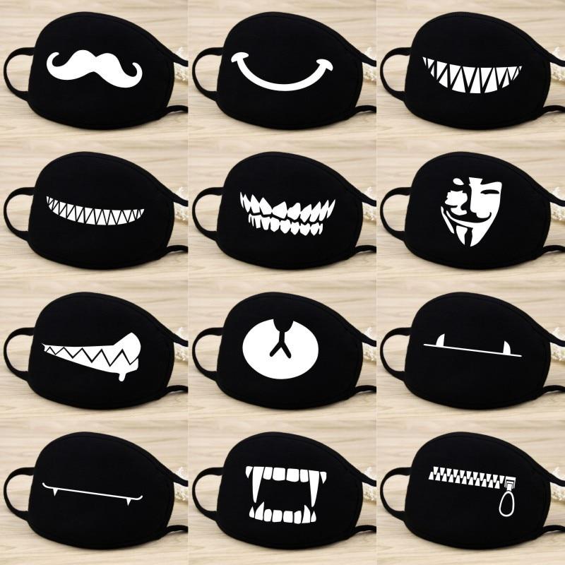 Das Beste Bt21 Staub Baumwolle Maske Cartoon Ausdruck Zähne Muffel Exo-k Chanyeol Gesicht Atemschutz Anti Kpop Bär Mund Maske