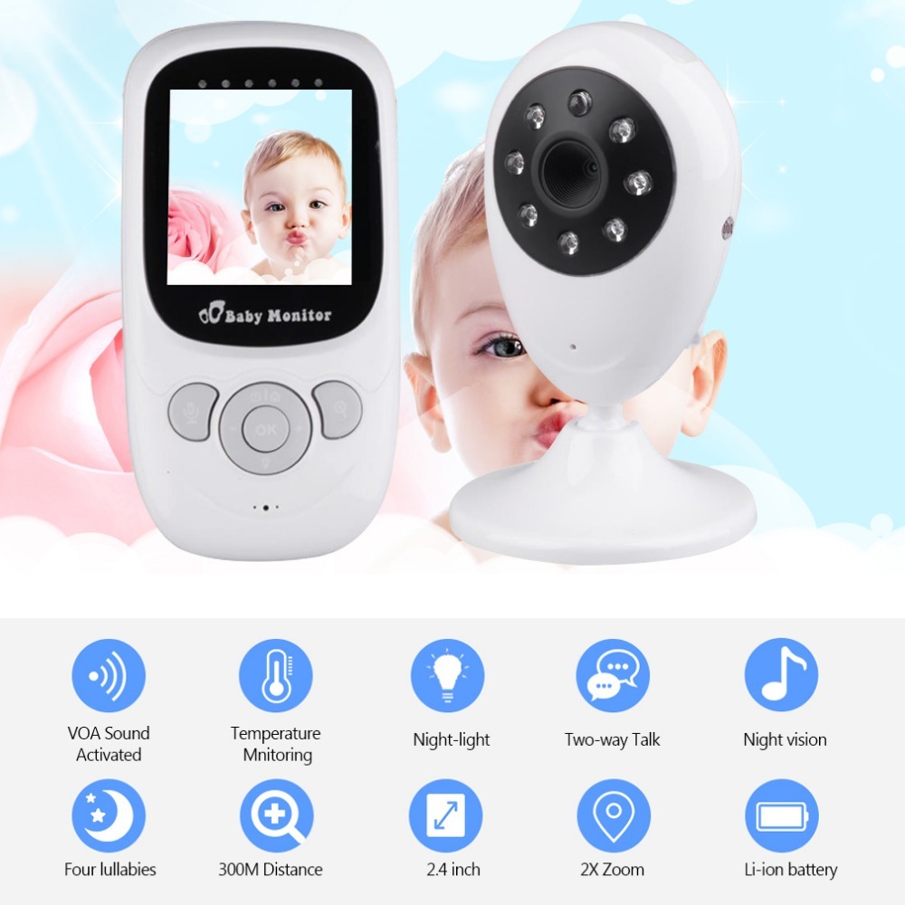 Wireless 2.4 Inche LCD Baby Monitor High Resolution Lullabies Kid Nanny Radio Babysitter Night Vision Remote Camera Newborn Gift wireless 2 4 lcd color baby monitor high resolution lullabies kid nanny radio babysitter night vision remote camera newborn gift