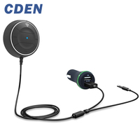 CDEN Draadloze Auto Bluetooth V4.0 Ontvanger Dual USB Charger Car Kit NFC AUX 3.5mm Audio Talking Muziek Adapter Handsfree Mic