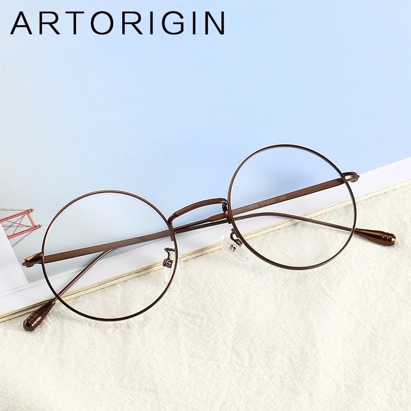 ARTORIGIN Brand Round Glasses Women Men Refinement Youth Style Glasses Frames Transparent Eyeglasses lentes opticos mujer 1010