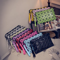 Fashion Geometric Zipper Cosmetic Bag Women Laser Flash Diamond Leather Makeup Bag Ladies Cosmetics