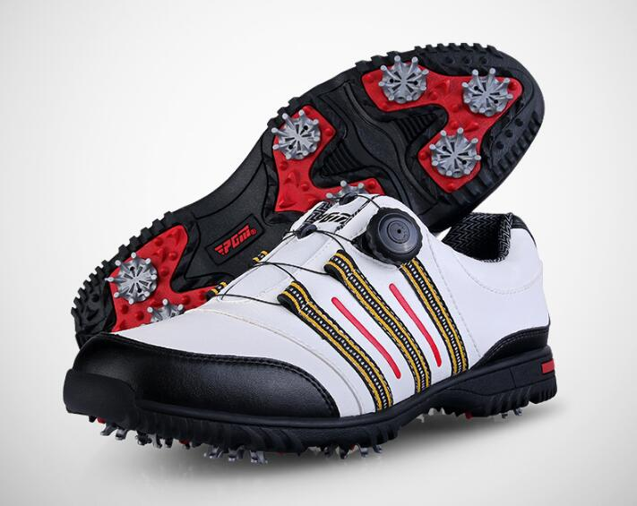 New PGM Men golf shoes men's knobs buckle shoes professional soft comfortable waterproof golf shoes men genuine leather Sneakers pgm genuine leather men golf shoes breathable professional sneaker waterproof men golf sport shoes leather athletic golf shoes
