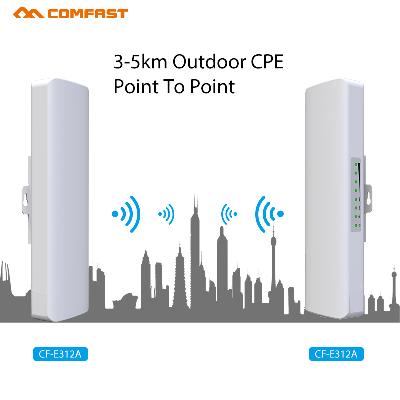 10pcs DHL 2-5KM Long Range Outdoor WI fi CPE 300Mbps Wireless WDS bridge Wifi Repeater& Extender Amplifier Extender Nanostation