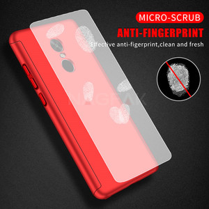 Image 3 - Luxury 360 Degree Protection Full Cover Phone Case for Xiaomi Redmi Note 4 Note 4X Shockproof Cover Note 4 Global Case Glass