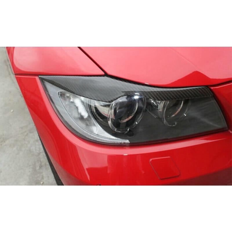 Pour BMW E90 fibre de carbone sourcils paupières phares 2005-2012