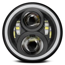 7 Pulgadas Faros LED Blanco/Ámbar de Halo Anillo Fit Jeep JK Wrangler TJ Harley Davidson Hummer FJ (Pcs)