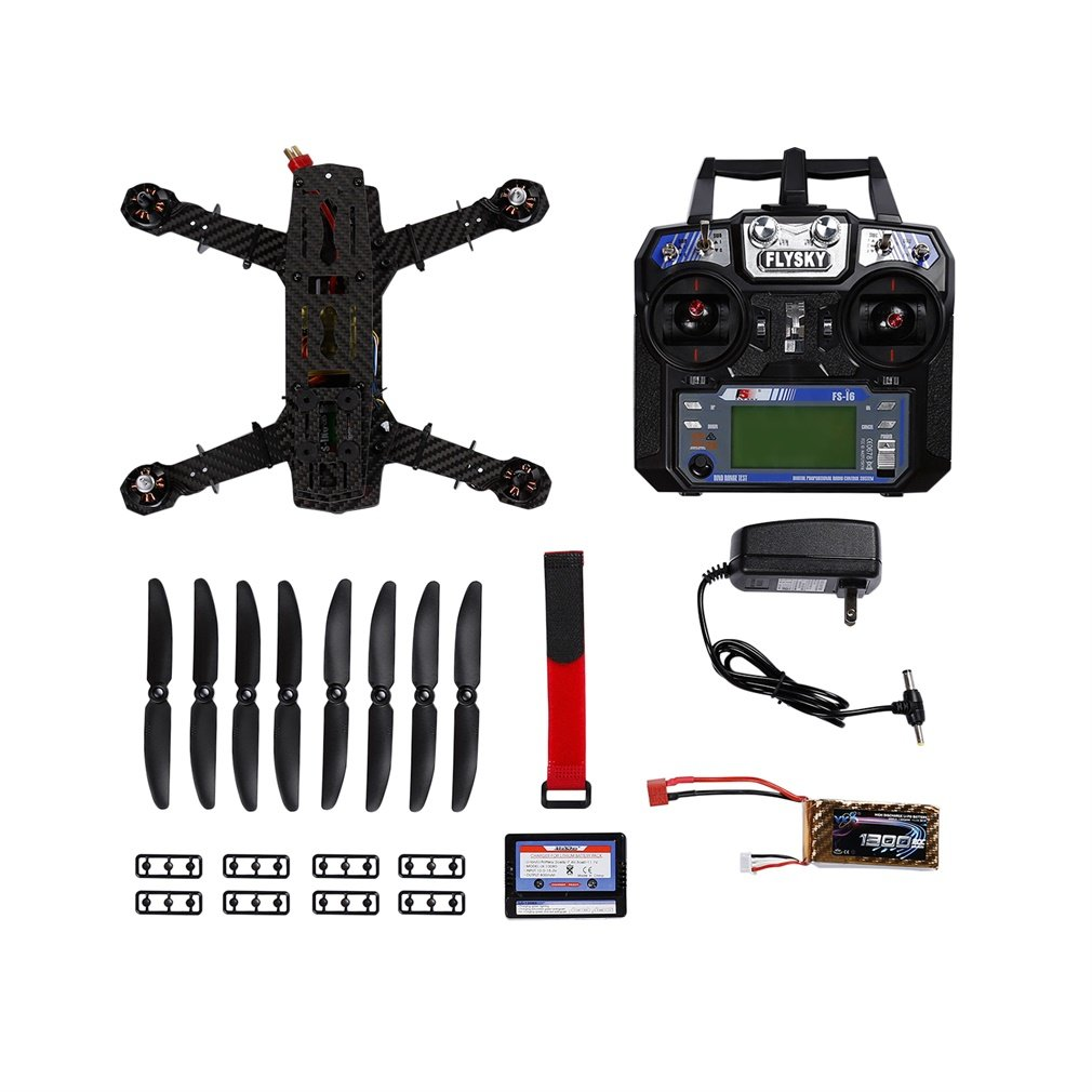 YKS Carbon Fiber 250 Quadcopter Left Hand Throttle RTF Ready to Fly with Flight Control & 1500mAh Lipo Battery