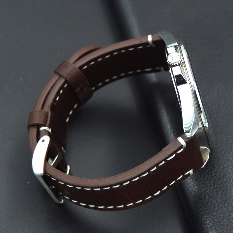 high quality Calf Leather Watch Band 18 19 20 21 22mm Men's fashion Watch Strap For Omega Victorinox Certina Blancpain Iwc Seiko