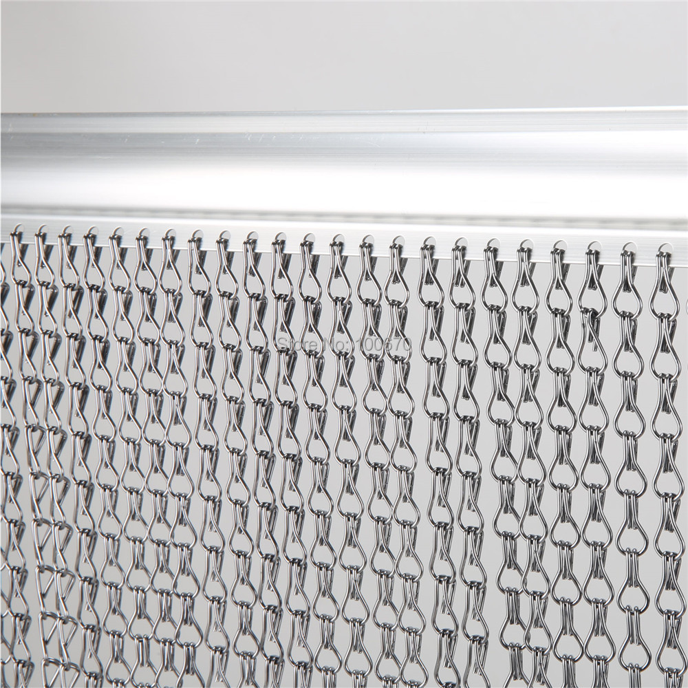 Aluminum Chain Door Fly Screen / Aluminum Chain Curtain-in Curtains from Home u0026 Garden on Aliexpress.com   Alibaba Group  sc 1 st  AliExpress.com & Aluminum Chain Door Fly Screen / Aluminum Chain Curtain-in ... pezcame.com