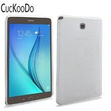 CucKooDo For Samsung Galaxy Tab A 8.0 TPU, X Design Slim TPU Gel Rubber Soft Skin Case Cover for Sasmung Galaxy Tab A 8.0 T350