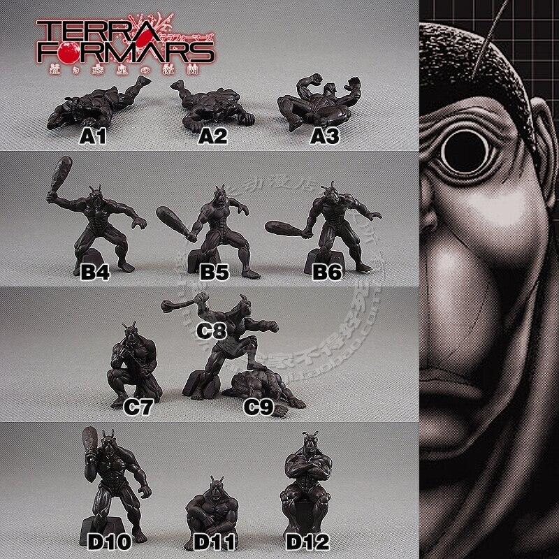 Solide pvc figure simulation modèle jouet cadeau 2 pouces poupée ornements martien cafard différent personnes 12 pièces/ensemble
