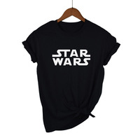 Top quality Cotton STAR WARS print women T shirt P ...