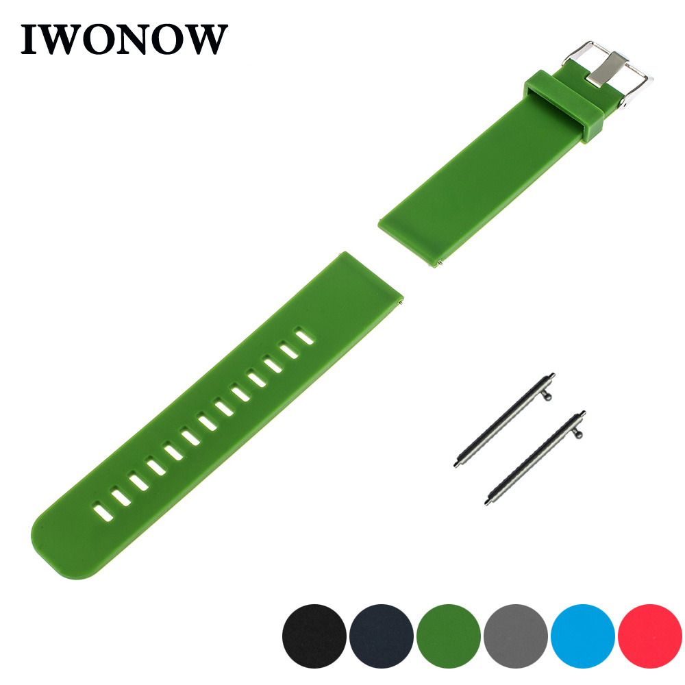 Silicone Rubber Watch Band 20mm 22m for Diesel Quick Release