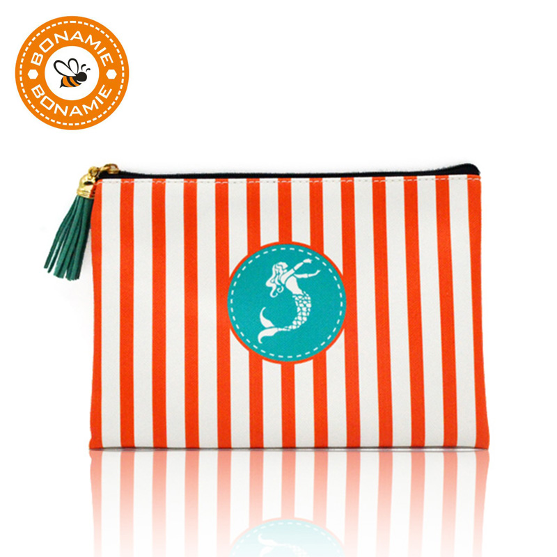 BONAMIE Brand Women Women Beach Bag Girl Tassel Mermaid Clutch Qese Lëkurë Femra Monedhë Monedhë Portofolin Kuletë Gratë Paratë Qese Grim të vogël Qese