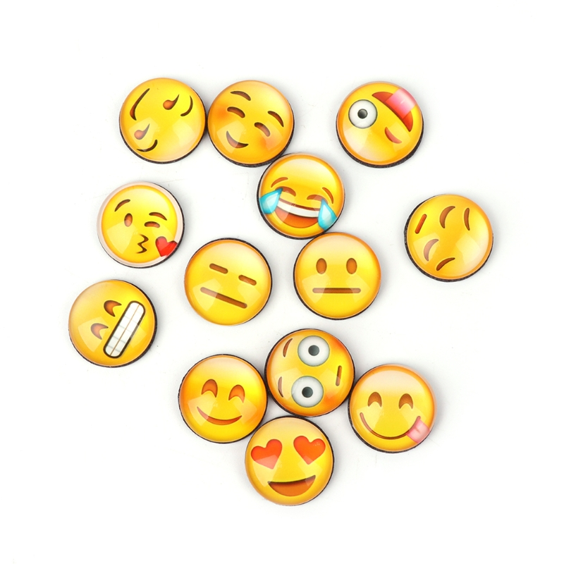 13pcs/bag 2cm Emoji Cartoon Expression Fridge Magnet Decor Whiteboard Message Holder New Refrigerator Parts Refrigerator & Freezer Parts