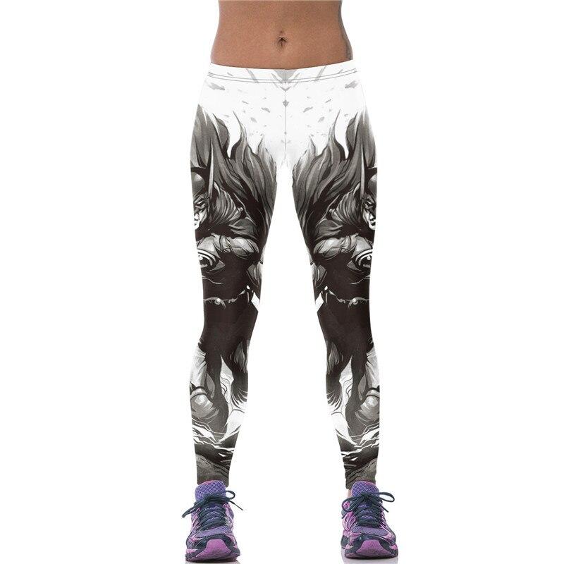 Women Elastic 3D Digital Print Batman   Leggings   Fitness Pants Hiphop Trousers Ropa Mujer