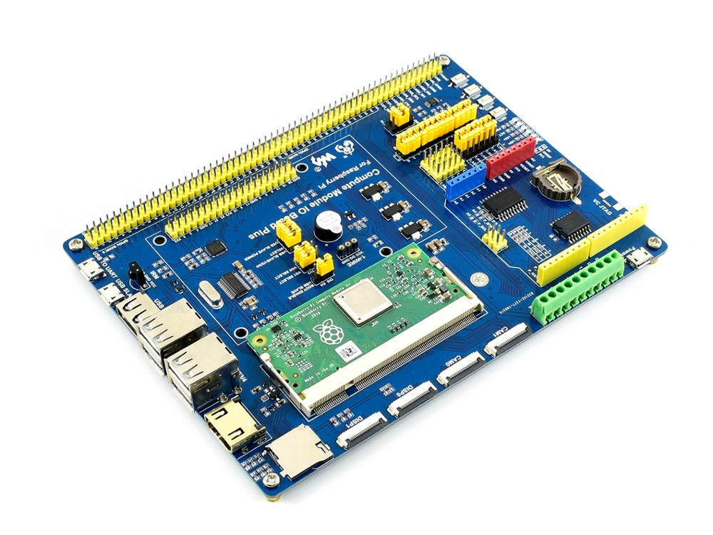 Waveshare Compute Module IO Board Plus,Composite Breakout Board for Developing with Raspberry Pi CM3 / CM3L / CM3+ / CM3+L