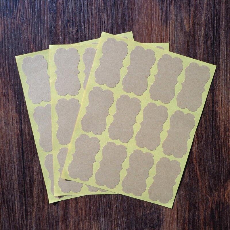Hot Sale 80pcs Big Size Blank Empty 5.9x3.2cm Handmade Cake Packaging Sealing Label Kraft Sticker Baking DIY Gift Stickers