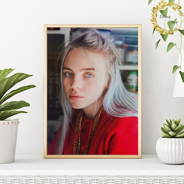 Billie Eilish poster music poster Art CANVAS Poster Pictures for Living Room No Frame