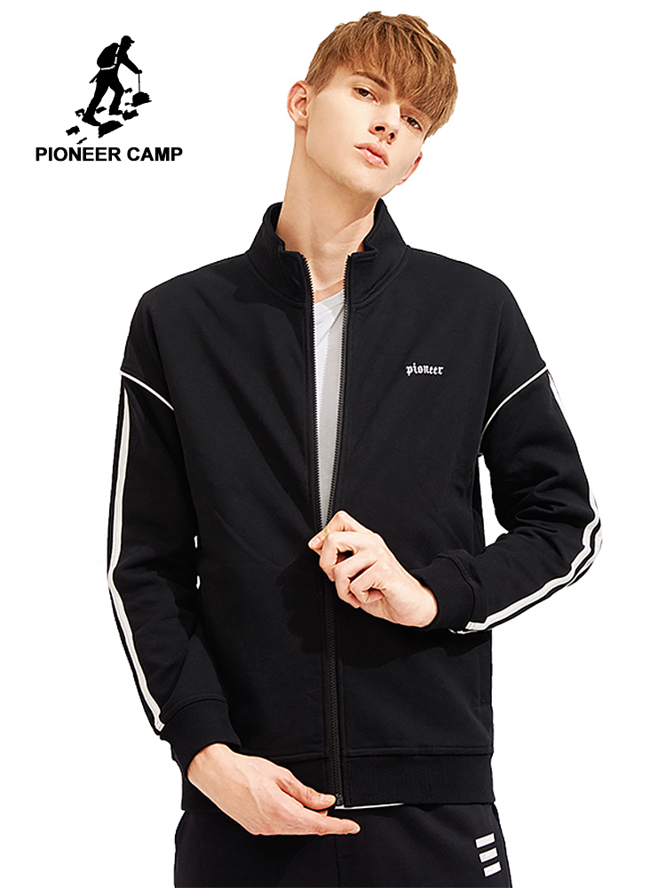 Pioneer Camp new spring embroidery jackets men coat brand mens clothing stand collar quality casual outerwear male AJK802035