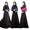 Abaya manga comprida muçulmano vestido maxi abaya muçulmano para as mulheres dubai kaftan turco islâmico