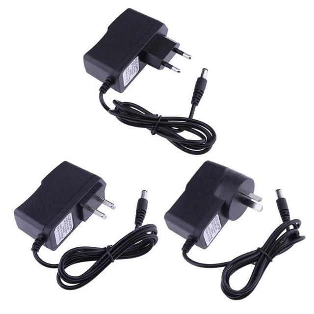 ALLOYSEED 9V 300mA EU US AU AC to DC Power Adapter Converter 5.5*2.5mm Center Negative Pole of 5.5*2.1mm Plug