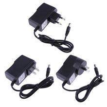ALLOYSEED 9V 300mA ue US AU convertisseur dadaptateur de courant alternatif à courant continu 5.5*2.5mm pôle négatif central de 5.5*2.1mm prise