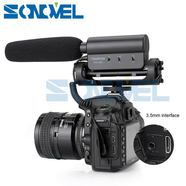 US $26 36 14% OFF|TAKSTAR SGC 598 Photography Interview MIC Microphone for  Nikon D7500 D7200 D5600 D5500 D5300 D3300 D810 D750 D610 D500 D5 D4s-in