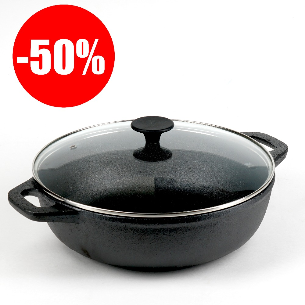 FRYING PAN VETTA  Nonstick Stainless Steel Handles Grille Glass Nylon Paddle Cauldron 808-009