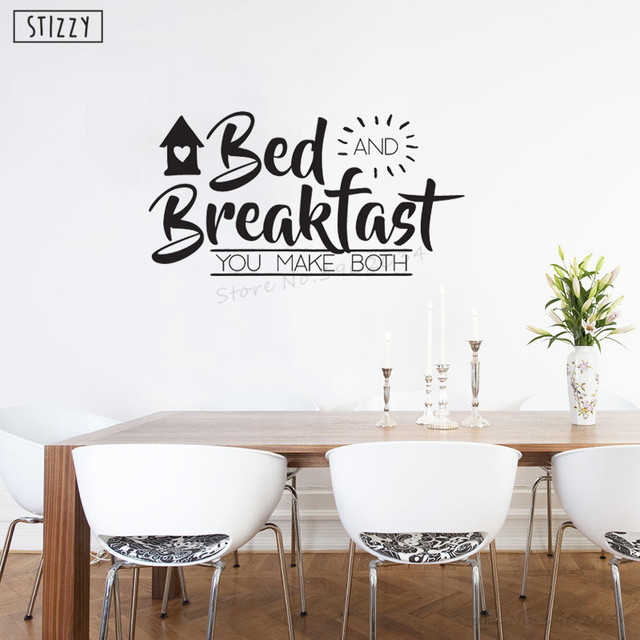 stizzy wall decal kitchen quotes bed and breakfast wall sticker