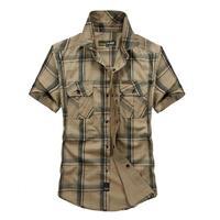 Plus Size 4XL 100 Cotton Chemise Homme Original Brand Clothing Men Chemise Homme Plaid Outdoor Sports