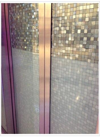 grande praca matt mosaico banheiro filme janela de vidro sem cola vinil decalques papel grades