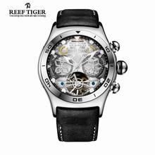 Arrecife Tigre/RT Año Mes Calendario Luminoso Relojes Deportivos Para Hombres Reloj Automático con Tourbillon RGA703
