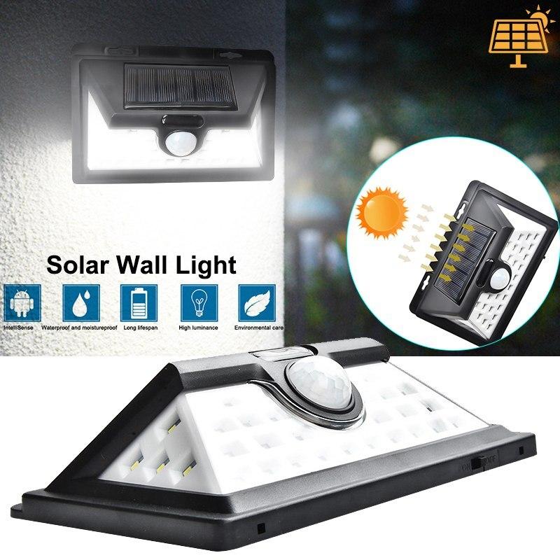 Lampes solaires 32 LED 52LED applique de jardin eclairage de sécurité extérieur étanche détecteur de mouvement Lampe Solaire Exterieur