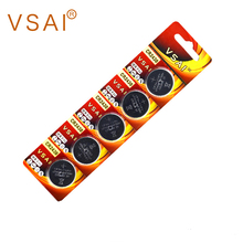 VSAI 5pcs/pack CR2430 3V Button Battery For Watch Toy Headphone 270mAh
