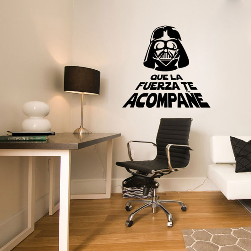 cool office wallpaper. Cool Star Wars Force Glasses Man Vinyl Wall Sticker Wallpaper Decals Mural Fashion Boys Room Office Home Decoration 60*60CM NEW-in Stickers From