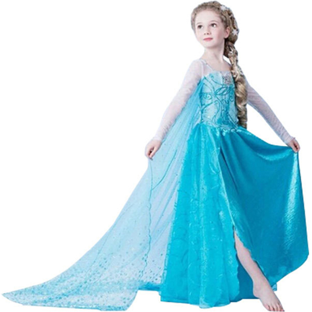 Snow Queen Girls Party Dress with Robe Kids Elsa Dress Sofia Winter 2016 New Year Cinderella Children Costume Christmas Clothes пальто electrastyle пальто