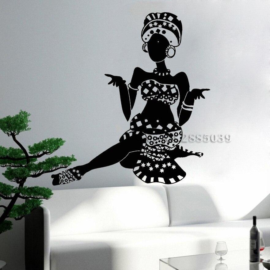 Hot African Woman Turban Native Vinyl Wall Decal Ethnic -1177