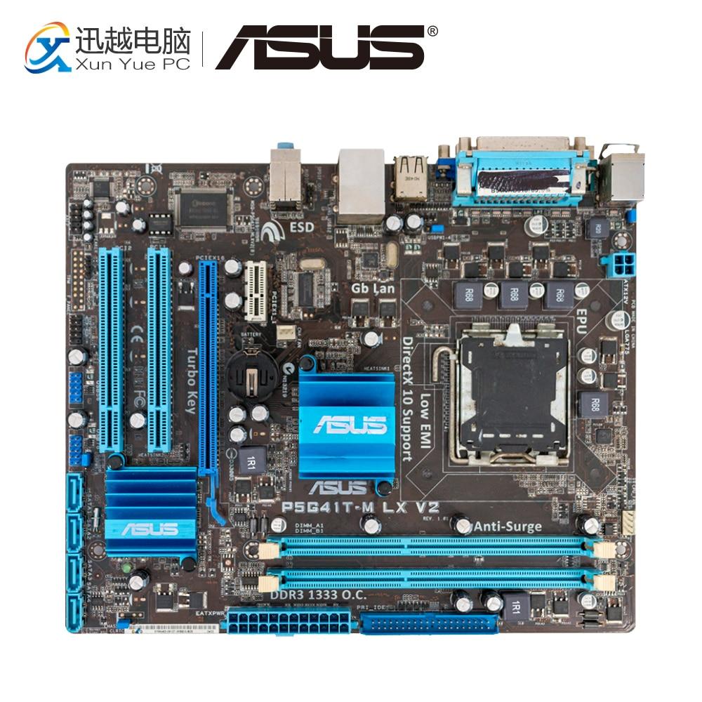 Asus P5G41T-M LX V2 Desktop Motherboard G41 Socket LGA 775 DDR3 8G SATA2 USB2.0 uATX used for asus p5g41t m lx v2 original desktop motherboard g41 socket lga 775 ddr3 8g sata2 usb2 0