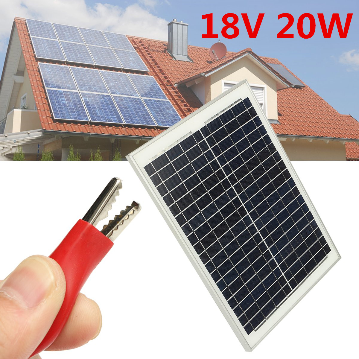 20W 18V Solar Panel Polycrystalline Solar Module Power Supply For Outdoor Fountain Pond Pool Garden Submersible Water Pump цена