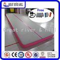 Floding aufblasbare Luft abgedichtet gymnastikmatte für kostenlose pumpe (grau rosa)-in Gymnastik aus Sport und Unterhaltung bei