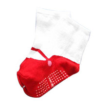 Winter 0-2Y Baby Infant Newborn Shoes Ballet printed Floor Socks Anti-slip Cotton Socks(China)
